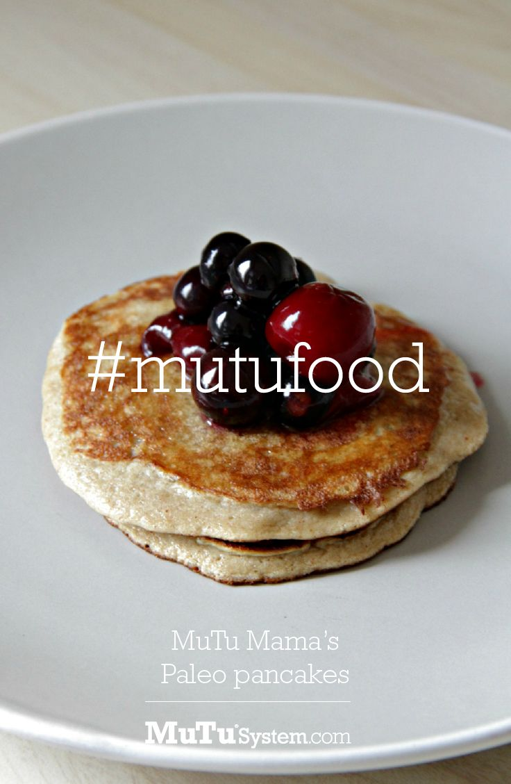 MuTu Mamas Paleo Pancakes. Ingredients: 2 bananas  2 eggs a spoonful of nut butter (cashew or almond) a teaspoon of cinnamon  Method: Mash the banana then mix well with all the ingredients until you've formed a batter. Cook in coconut oil in a frying pan until cooked through. Be careful not to burn the pancakes! #nutrition #cleaneating #paleo #recipe
