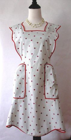 homemade aprons ideas | vintage apron unicorn books quilted apron and potholders by ...