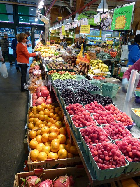 Indoor market on Granville Island, Vancouver, Canada. Photo: Lazy B via Flickr