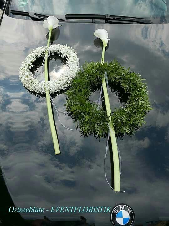 ... auf Pinterest  Autodeko, Hochzeit auto und Hochzeitsblumen auto