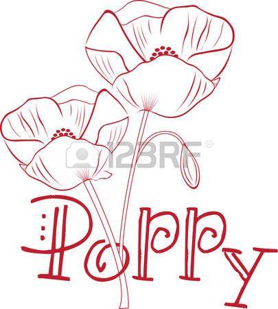 Capturez la beaut exotique de fleurs de pavot avec cette conception par des motifs de broderie  Banque d'images