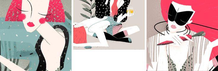 Sara Ciprandi, illustrator, in the Dusty Cedar mood board.