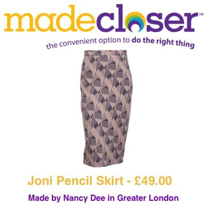 Product of the Week: Joni Pencil Skirt made by Nancy Dee in London