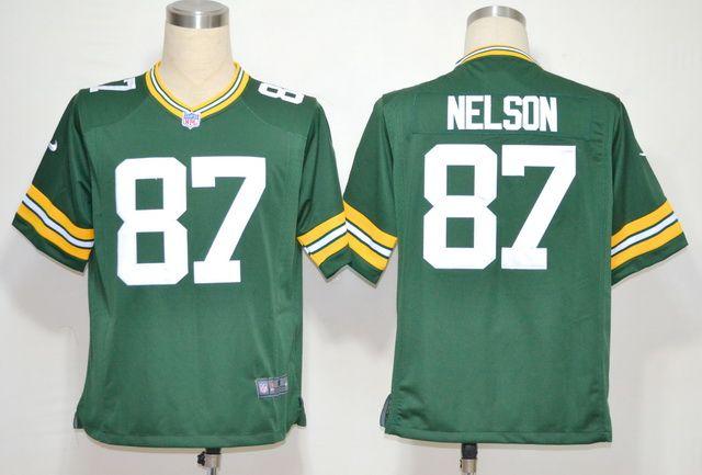 $20.00 Nike NFL Jerseys Green Bay Packers Jordy Nelson #87 Green