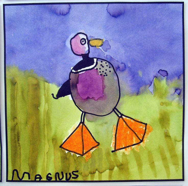 Birds, 5 year  child with Britta Johanson
