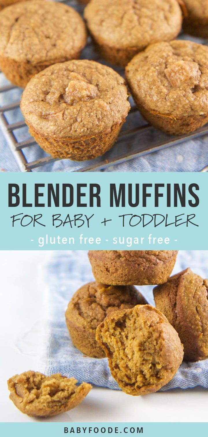 3 Fall Blender Muffins for Baby + Toddler   Baby muffins
