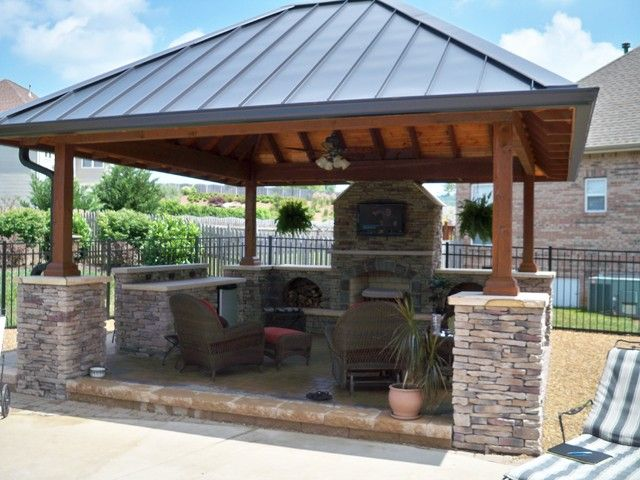 Beautiful Gazebo With Fireplace Ideas Best Design Ideas Rustic Outdoor Fireplaces Outdoor Fireplace Designs Backyard Gazebo