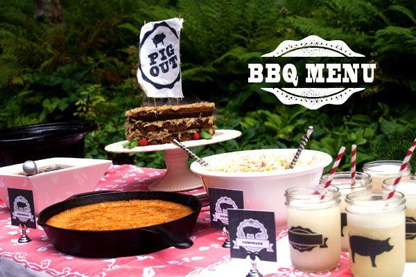 Confetti Sunshine: BBQ Party : Menu & Free Printables