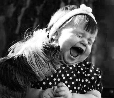 Enfant en noir et blanc