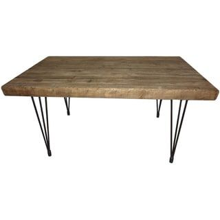 Shop for Aurelle Home Natural Rustic Dining Table. Get free shipping at Overstock.com - Your Online Furniture Outlet Store! Get 5% in rewards with Club O! - 16679251