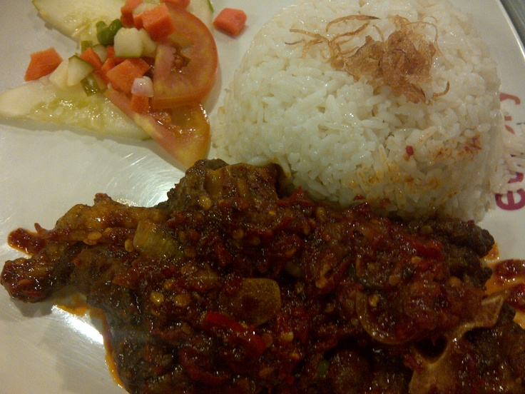Iga balado at Kuningan City Food Court