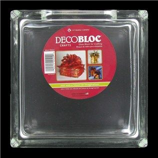 Decobloc Glass Block With Hole