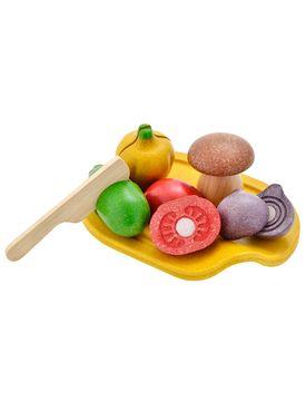 Leksaksmat | Grönsaker med Skärbräda Trä - Ekologisk