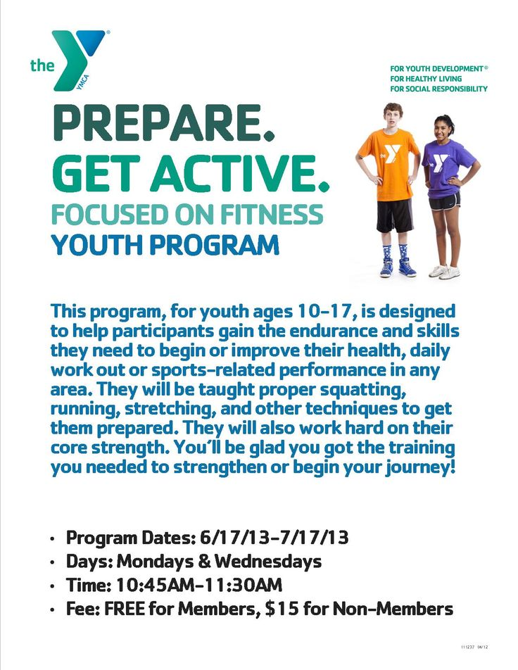 youth fitness program Children 12 and over may work out in the main fitness center provided that they take 'fit for the gym' and work out with a parent present for children who are under 12, we offer a youth fitness class schedule with several options of fitness activity.