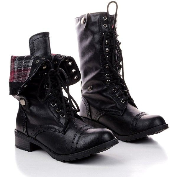Soda Women's Oralee Military Boot ($25) ❤ liked on Polyvore featuring shoes, boots, short boots, wide width shoes, wide width ankle boots, wide ankle boots and wide fit ankle boots