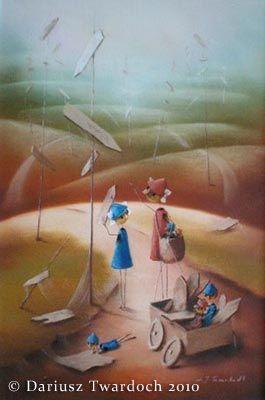"""""""Przed nami jeszcze tyle dróg, przed nami jeszcze tyle idei"""" - malarstwo pastelowe, autor: Dariusz Twardoch, obraz dostępny na www.galeriatwardocha.pl"""