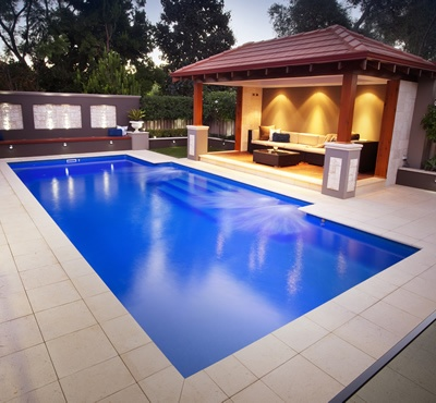 Swimming pool, outdoor room or pool house
