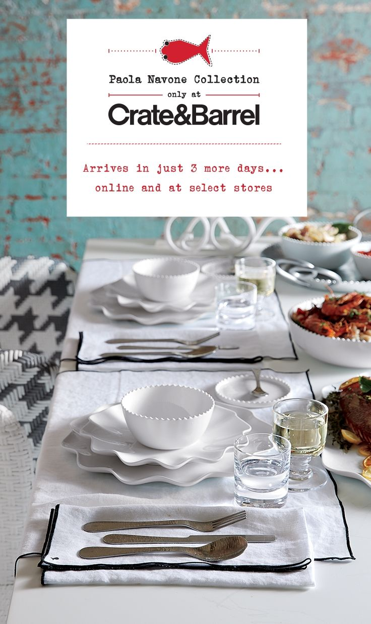 The Paola Navone Collection arrives in just 3 days I Crate and Barrel