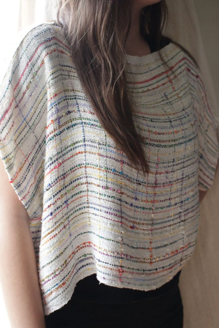 """Handwoven Blouse, """"Winter frost"""" Overblouse, Woven Wrap by barefootweaver on Etsy ... Both are sold.."""
