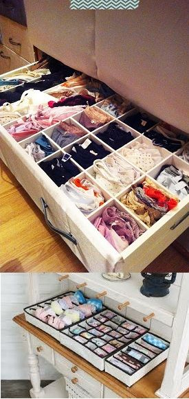 Creative Storage Boxes for Underwear and Socks