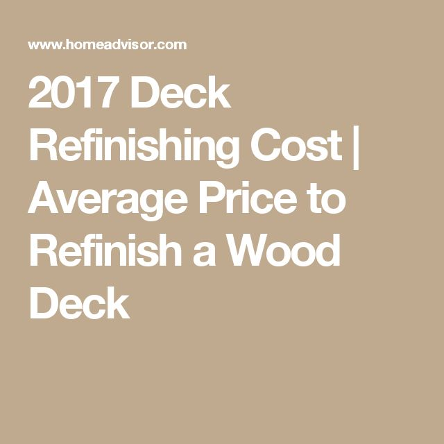 2017 Deck Refinishing Cost   Average Price to Refinish a Wood Deck