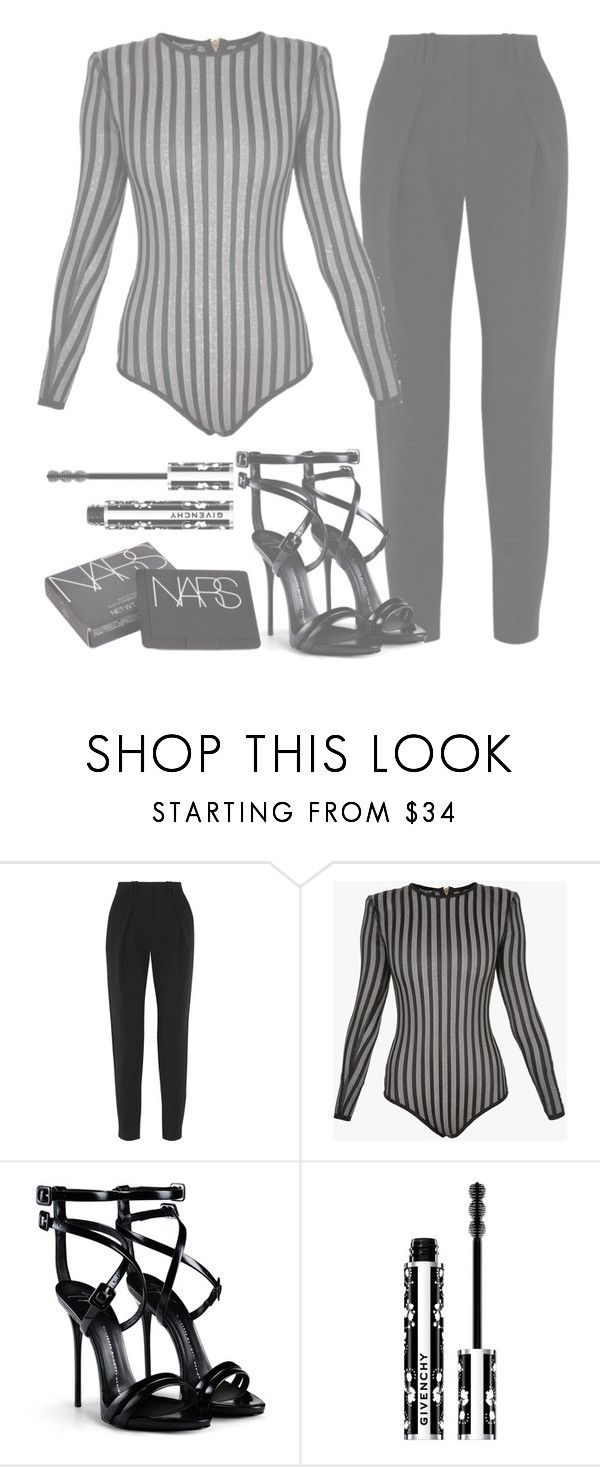 """""""you'll love me forever"""" by aurorasrose ❤ liked on Polyvore featuring Proenza Schouler, Balmain, Giuseppe Zanotti, Givenchy and NARS Cosmetics"""