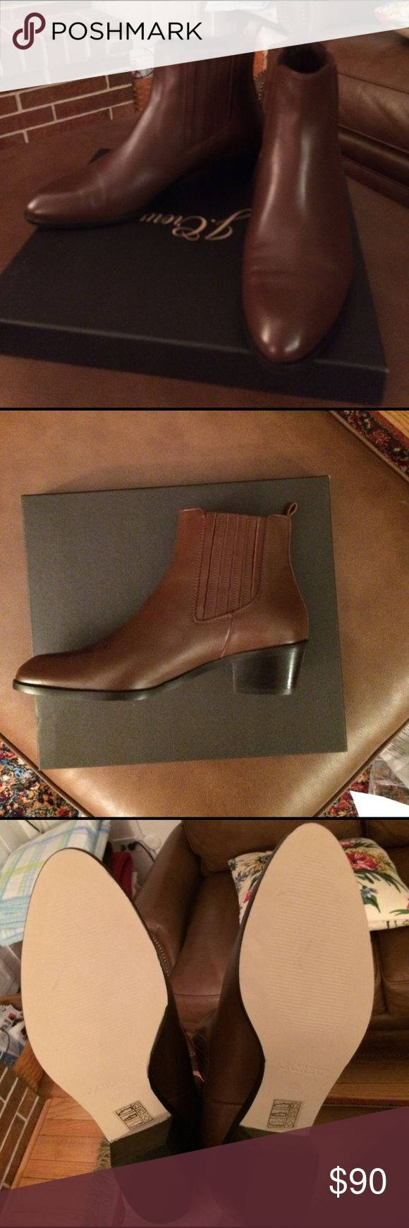 J. Crew Chelsea Boot Brand new, never been worn. I bought them on final sale and they are a tad too tight! They are so cute and a timeless classic J. Crew Shoes Ankle Boots & Booties