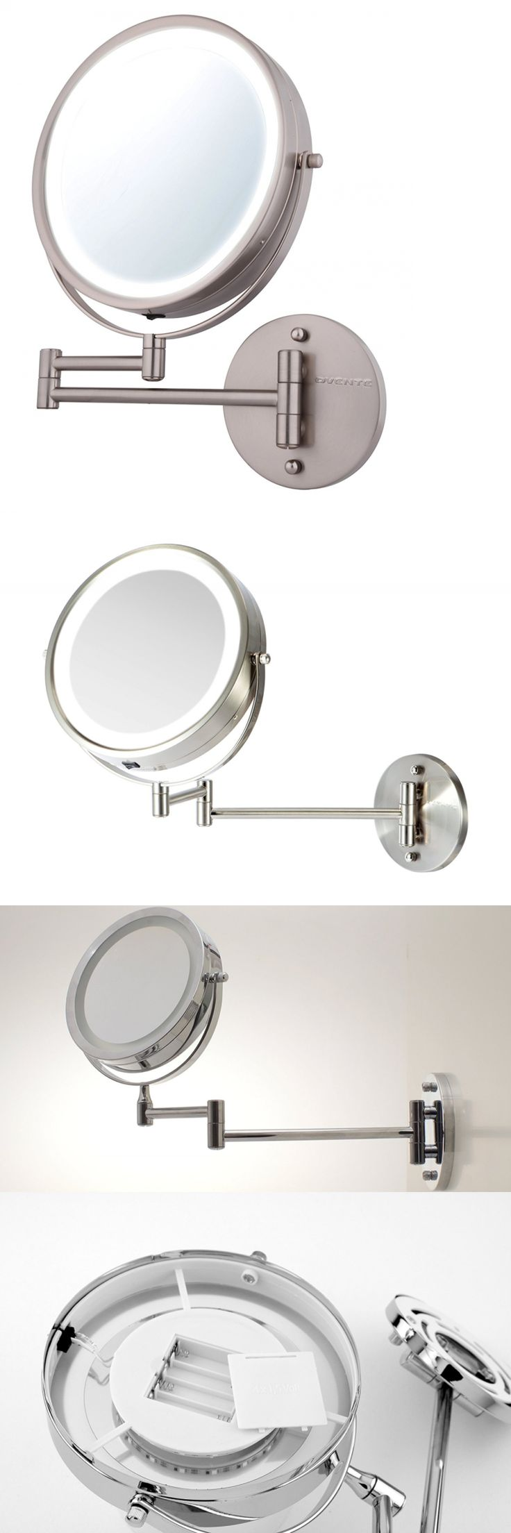 Top 6 bathroom mirrors ebay - Makeup Mirrors 8 5 Battery Operated Led Wall Mount Swivel Bathroom Makeup Magnifying Mirror
