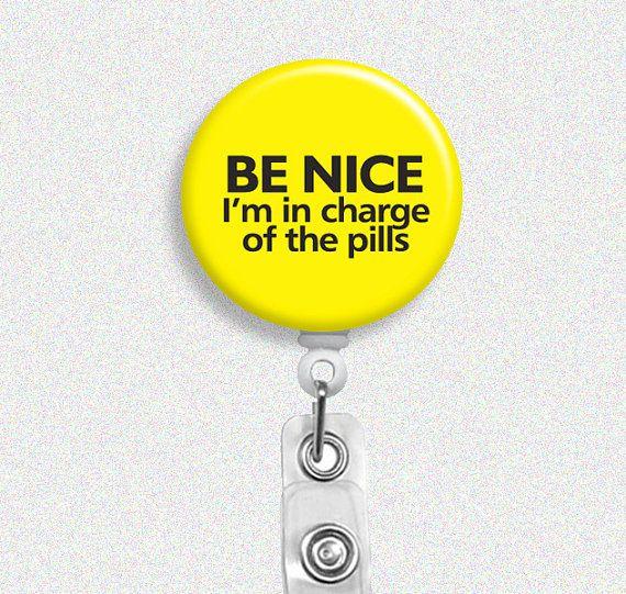 retractable badge reel, pharmacy tech gift, pharmacist badge