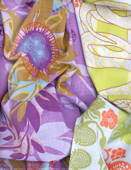 Nina Glaser's new line of summer scarves and hair scarves.