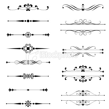Typographic Ornaments Royalty Free Stock Vector Art Illustration - programs