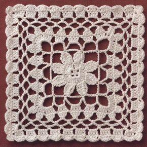cuadrados pañito-flores en el interior