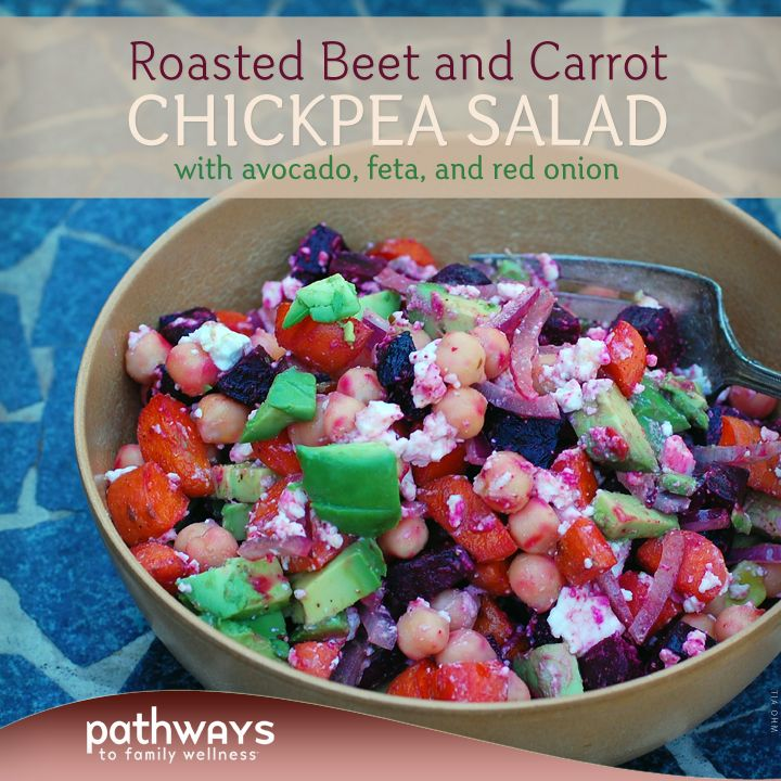 This salad is a great way to transition from summer to fall and enjoy many colors of the rainbow in your meal.