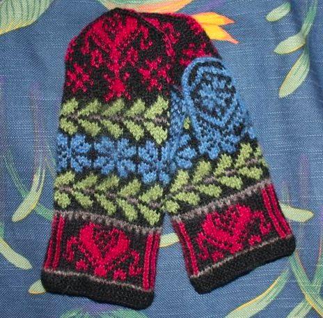 51 best Scandinavian knitted mittens images on Pinterest ...