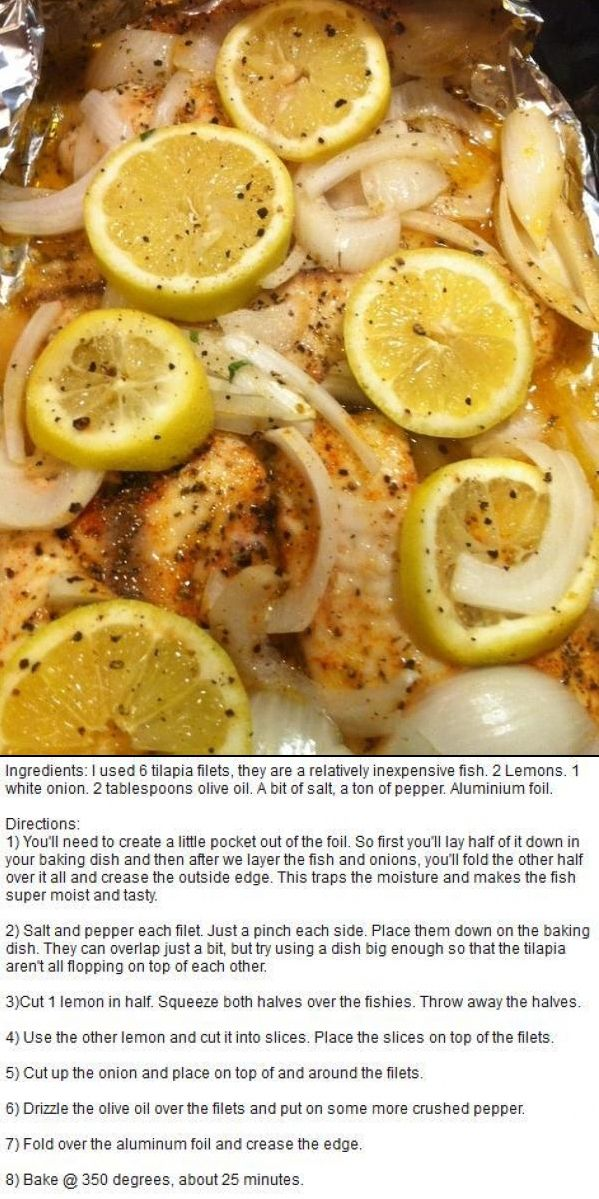 Baked Tilapia with Lemon and Onion