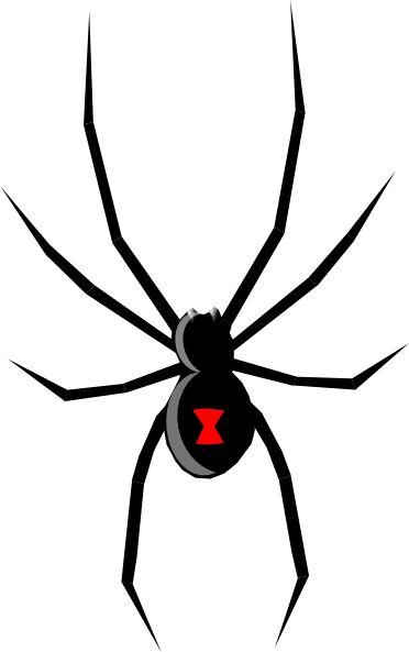 Cartoon Spider Clip Art | Black Widow clip art