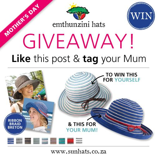 Mother's Day month - featured Breton and Breton Ribbon Braid.  www.sunhats.co.za