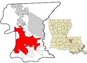 Location in East Baton Rouge Parish, Louisiana and the state of Louisiana