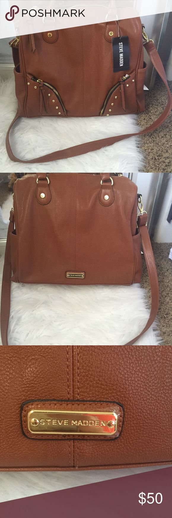 Steve Madden Purse   New! Brand new purse! It has a removable shoulder strap so you can wear it however you want. Price is firm! Steve Madden Bags Shoulder Bags