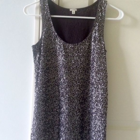 J. Crew Sequin Tank Top J.Crew grey sequined tank top SIZE XS. Worn once, JUST LIKE NEW* J. Crew Tops Tank Tops