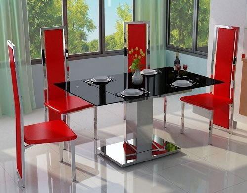 1000 Ideas About Black Glass Dining Table On Pinterest