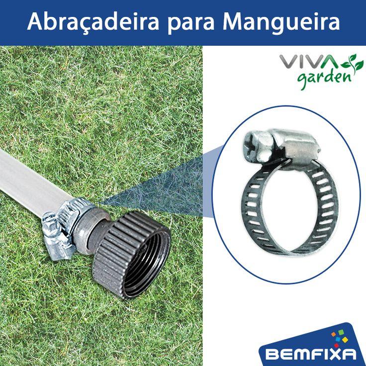 Abraçadeira para Mangueira Viva Garden com fita em Inox. Indicada para o uso em superfícies úmidas ou com ação direta da água ou maresia. Compre aqui: http://bit.ly/2bfZ8Wn