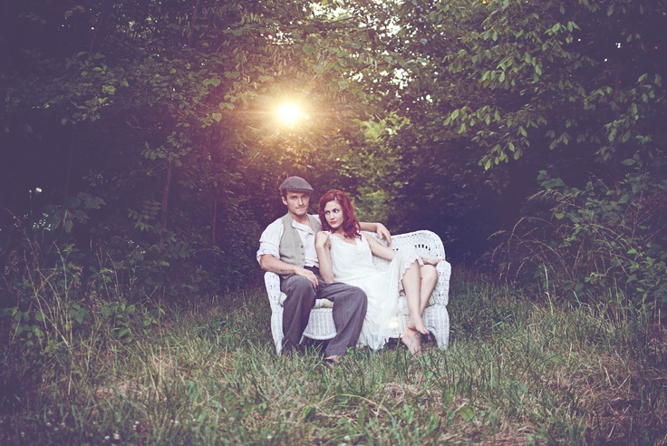 St. Louis Area Photographer::Robert and Erica's Stylized Session | Vintage Suitcase Photography 20's style anniversary session. Vintage and romantic.