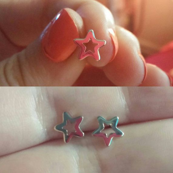 Check out this item in my Etsy shop https://www.etsy.com/ca/listing/472584905/sale-star-stud-earrings