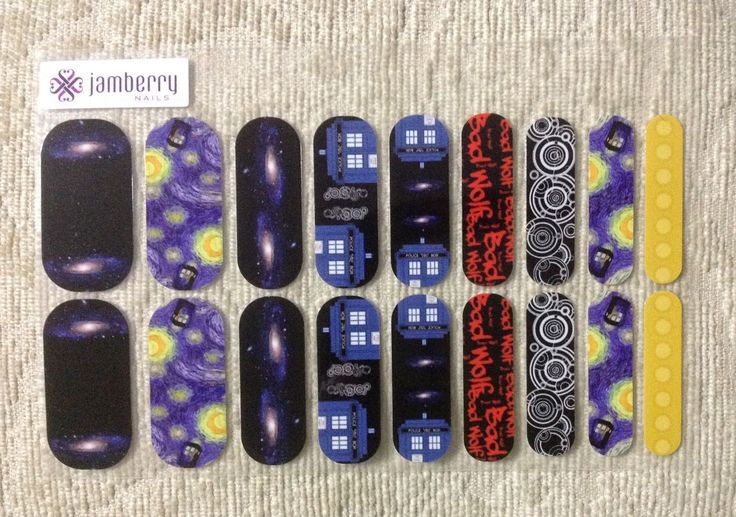 Nail Art Accessories: Jamberry Nas Nail Art Studio Design Dr. Doctor Who Tardis Inspired Full Sheet -> BUY IT NOW ONLY: $34.95 on eBay!