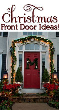 christmas decorated front doors - Google Search