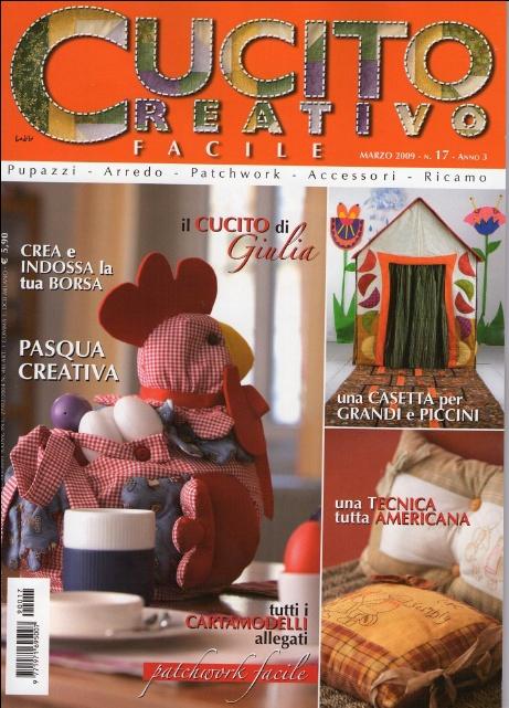 Cucito Creativo Facile №17 2009 /Итальянский журнал поделок из ткани..