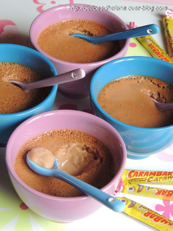 Les carambar ne sont pas fait que pour être mangés tel quel une fois déballés! En pâtisserie, ils révèlent un délicat parfum de caramel... Cette recette est un vrai bonheur, les petites crèmes sont onctueuses à souhait! Un seul regret: de ne pas en avoir...