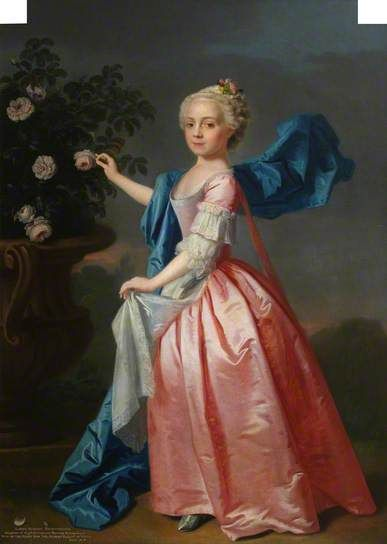 """Agnes Murray Kynynmond, Daughter of Hugh Dalrymple Murray Kynynmond, Later Wife of the Right Honourable Sir Gilbert Elliot of Minto, Bt, MP"", Allan Ramsay, 1739; NTS 21.39"