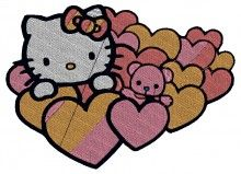 Valentine Kitty Embroidery Design brother machine embroidery designs download